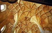 Travel photography:Roof structure inside the Mosteiro dos Jeronimos, Portugal