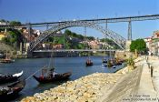 Travel photography:The bridge of D. Luis I in Porto, Portugal