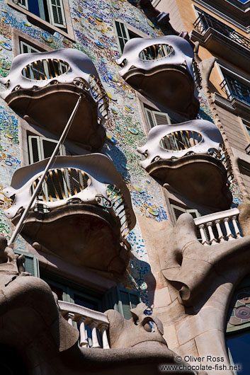 Balconies on Casa Batlló