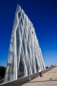 Travel photography:Modern office building at the Barcelona Forum, Spain