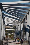 Travel photography:Pedestrian bridge at the Barcelona Forum, Spain