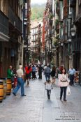 Travel photography:Street in the casco viejo (old town) in Bilbao, Spain