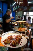 Travel photography:Pinchos (pintxos) in a bar in Bilbao, Spain