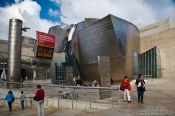 Travel photography:The Bilbao Guggenheim Museum visitor entrance, Spain