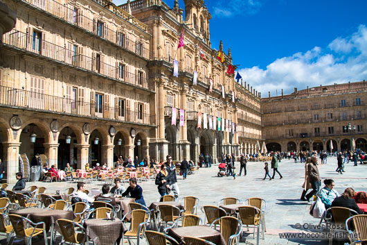 Café on the Plaza Mayor (main square) in Salamanca