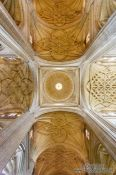 Travel photography:Ceiling inside Segovia cathedral, Spain