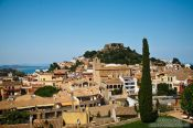 Travel photography:Panoramic view of Begur castle, Spain