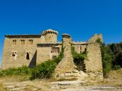 Travel photography:Abandoned castle at Cingles de Berti, Spain