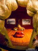 Travel photography:Mae West room in the Figueres Dalí museum, Spain