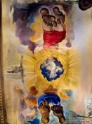 Travel photography:Painted ceilling in the Figueres Dalí museum, Spain