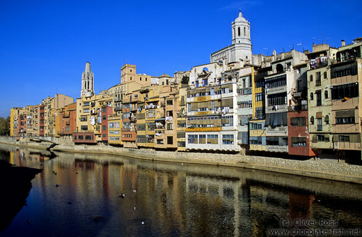 Houses along the Ter river in Girona