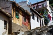 Travel photography:Houses in the Granada Albayzin district, Spain