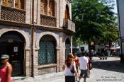 Travel photography:Central square in Granada`s Albayzin district, Spain