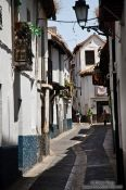 Travel photography:Street in Granada`s Albayzin district, Spain