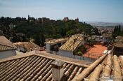 Travel photography:View of the Alhambra from Granada`s Albayzin district, Spain