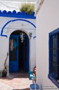 Travel photography:House in Granada`s Sacromonte district , Spain