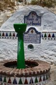 Travel photography:Public drinking fountain in Granada`s Sacromonte district, Spain