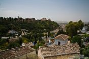 Travel photography:View of the Alhambra from Granada`s Sacromonte district, Spain