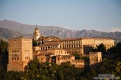 Travel photography:View of the Alhambra from the Albayzin district, Spain