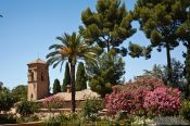 Travel photography:Gardens in the Granada Alhambra, Spain
