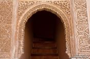 Travel photography:Stair case in the Nazrin palace in the Granada Alhambra, Spain