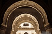 Travel photography:Archway in the Nazrin palace in the Granada Alhambra, Spain
