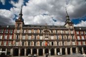 Travel photography:Painted facades on Madrid´s Plaza Mayor, Spain