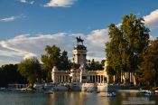 Travel photography:Lake in Madrid´s Retiro recreational park, Spain