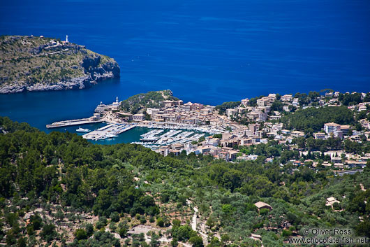 Aerial view of Port de Soller