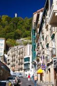 Travel photography:Houses at the port in San Sebastian, Spain