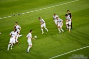 Travel photography:Real Madrid warm-up before the match, Spain