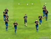 Travel photography:FC Barcelona warm-up before the match, Spain