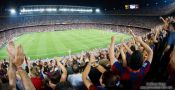 Travel photography:... joy! Spectators celebrate the 2:1 lead for Barcelona., Spain