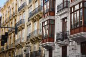 Travel photography:Houses in Valencia´s old town, Spain