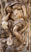 Travel photography:Alabaster Atlas at the entrance to the Palau del Marqués de Dosaigües in Valencia, Spain