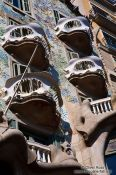 Travel photography:Balconies on Casa Batlló, Spain