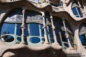 Travel photography:Facade detail of Casa Batlló, Spain