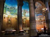 Travel photography:Inside Barcelona´s Sagrat Cor church atop the Tibidabo mountain, Spain