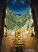 Travel photography:Black madonna inside Barcelona´s Sagrat Cor church atop the Tibidabo mountain, Spain