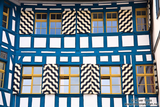 Facade of a half-timbered house in Sankt Gallen
