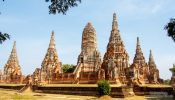 Travel photography:Khmer style temple in Ayutthaya, Thailand
