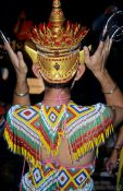 Travel photography:Dance costume during the Loi Krathong festival, Thailand