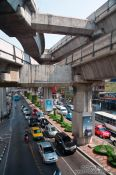 Travel photography:Modern architecture in Bangkok´s Silom district, Thailand