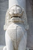 Travel photography:Sculpture at Wat Benchamabophit in Bangkok, Thailand