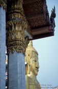 Travel photography:The giant 32m high Buddha at Wat Intharawihan, Thailand