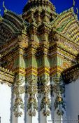 Travel photography:Facade detail in Wat Pho, Thailand