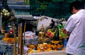 Travel photography:Shrine at Wat Phra Kaew, Thailand