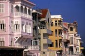 Travel photography:Traditional wooden Ottoman  houses in Arnavutköy, Turkey