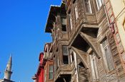 Travel photography:Traditional wooden Ottoman houses in Sultanahmet district, Turkey