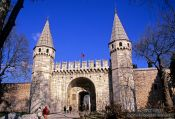 Travel photography:Main entrance gate to the Topkapi palace, Turkey